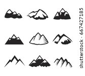 mountains icons isolated.... | Shutterstock . vector #667427185