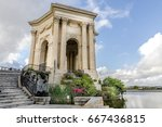 main basin of peyrou in... | Shutterstock . vector #667436815