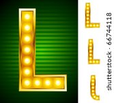 alphabet for signs with lamps.... | Shutterstock .eps vector #66744118