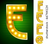 alphabet for signs with lamps.... | Shutterstock .eps vector #66744124