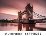 sunrise clouds by the london... | Shutterstock . vector #667448251