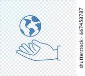 earth icon vector.   Shutterstock .eps vector #667458787