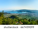 view of the city volos from... | Shutterstock . vector #667459099