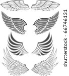 wings in different forms and... | Shutterstock .eps vector #66746131