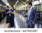 business team work waiting... | Shutterstock . vector #667465387