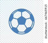 soccer ball icon flat. | Shutterstock .eps vector #667465915