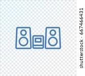 music center icon flat.   Shutterstock .eps vector #667466431