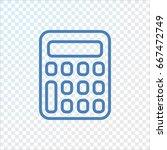 calculator icon flat. | Shutterstock .eps vector #667472749