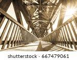 Old Wooden Footbridge   Covered ...