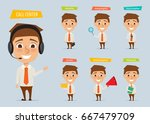 young man character in... | Shutterstock .eps vector #667479709