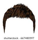 trendy man hairs.brunette brown ... | Shutterstock .eps vector #667480597