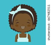 african little girl laughing... | Shutterstock .eps vector #667482511
