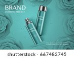 beautiful cosmetic templates... | Shutterstock .eps vector #667482745