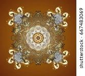vector snowflakes winter new... | Shutterstock .eps vector #667483069