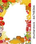 vertical food frame. vector | Shutterstock .eps vector #66748366