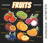 the popular fruit is made into... | Shutterstock .eps vector #667487374