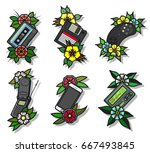 vector traditional tattoo... | Shutterstock .eps vector #667493845