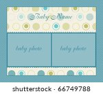 baby boy arrival card with frame | Shutterstock .eps vector #66749788