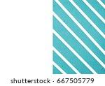 blue geometric background... | Shutterstock . vector #667505779