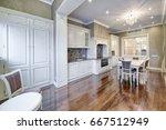 modern design white kitchen in...   Shutterstock . vector #667512949