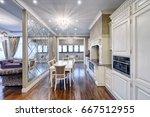 modern design white kitchen in...   Shutterstock . vector #667512955