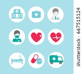 medical icons set   Shutterstock .eps vector #667515124