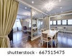 interior of the kitchen living...   Shutterstock . vector #667515475