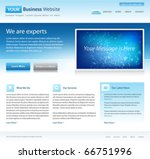 blue business website template  ... | Shutterstock .eps vector #66751996