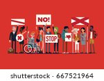 cool vector illustration on... | Shutterstock .eps vector #667521964