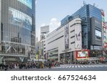 tokyo  japan   april 3  2017 ... | Shutterstock . vector #667524634