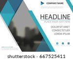 blue triangle business brochure ... | Shutterstock .eps vector #667525411