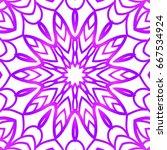 floral pattern. vector... | Shutterstock .eps vector #667534924