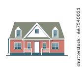vector flat icon suburban... | Shutterstock .eps vector #667540021