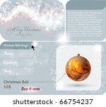 christmas web site design... | Shutterstock .eps vector #66754237