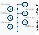 infographics elements template... | Shutterstock .eps vector #667544299
