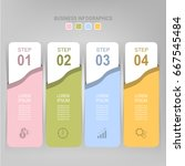 infographic template of four... | Shutterstock .eps vector #667545484