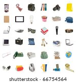 Objects collection isolated on...