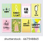colorful happy birthday...   Shutterstock .eps vector #667548865