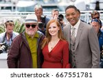 Small photo of President Pedro Almodovar and jury Jessica Chasten, Will Smith attend the Jury photocall during the 70th annual Cannes Film Festival at Palais des Festivals on May 17, 2017 in Cannes, France.