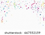 many falling colorful tiny... | Shutterstock .eps vector #667552159