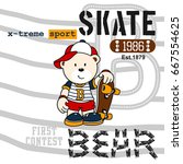 skate bear | Shutterstock .eps vector #667554625