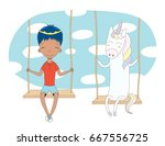 hand drawn vector illustration... | Shutterstock .eps vector #667556725