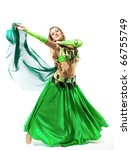 Young Girl Dance With Green...