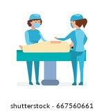 modern medicine and healthcare... | Shutterstock .eps vector #667560661