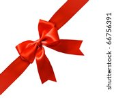 big red holiday bow on white... | Shutterstock . vector #66756391