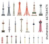 Vector Collection Of High Towers