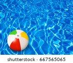 beach ball on water | Shutterstock . vector #667565065