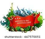 red ribbon for text on the... | Shutterstock .eps vector #667570051