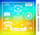 summer time background with text | Shutterstock . vector #667572724