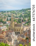 Small photo of View of the City Thann, Alsace - France